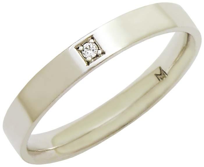 Aliança de ouro branco com brilhante da joalheria MW Joias (www.mwjoias.com.br)