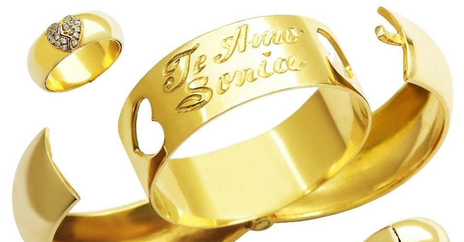 Aliança Declaração de Amor da joalheria MW Joias (www.mwjoias.com.br)