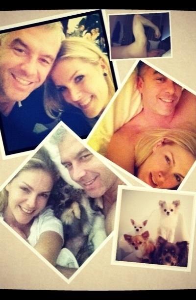 Ana Hickmann faz montagem de fotos para desejar feliz aniversário ao marido, Alexandre Corrêa (7/11/12)