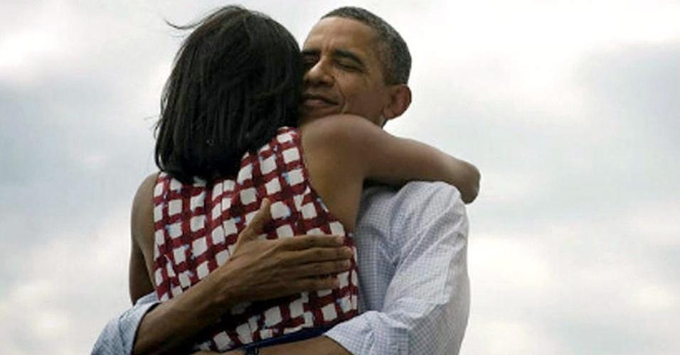 Foto publicada por Barack Obama em seu perfil no Twitter logo depois de ter confirmada a sua reeleição como presidente dos EUA