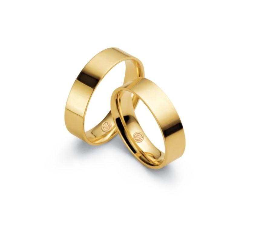 Par de alianças Honeymoon (de ouro amarelo) da joalheria Vivara (www.vivara.com.br)