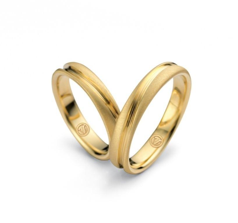 Par de alianças True Love (de ouro amarelo) da joalheria Vivara (www.vivara.com.br)