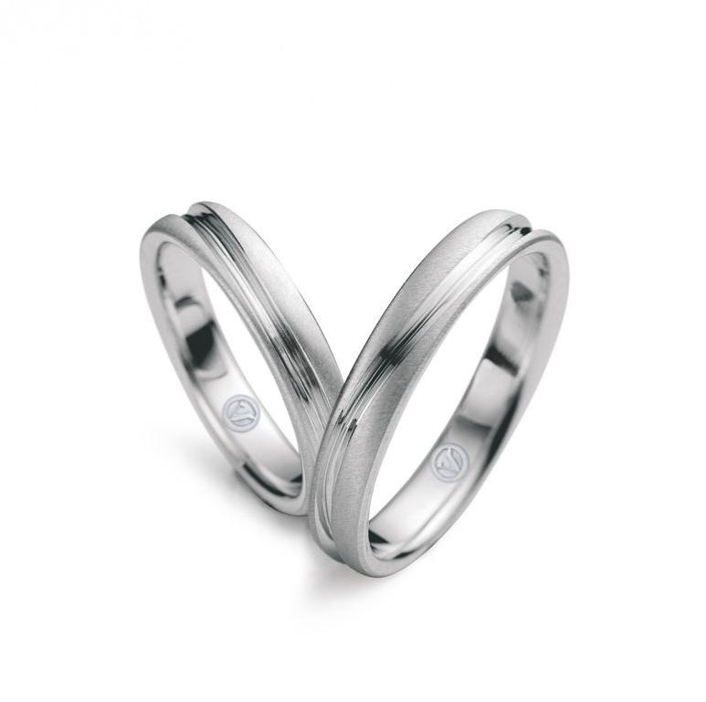 Par de alianças True Love (de ouro branco) da joalheria Vivara (www.vivara.com.br)