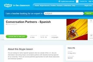 Reprodução da página Skype in the classroom