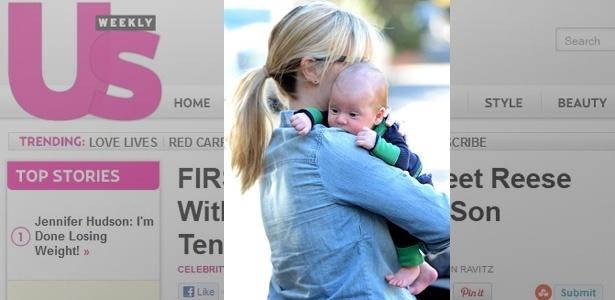Reese Witherspoon e o filho de seis semanas, Tennessee James Toth