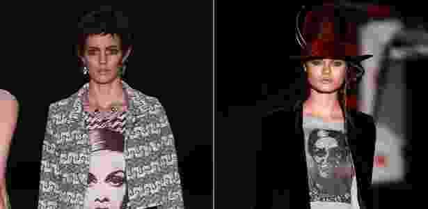 A modelo britânica Twiggy virou camiseta nas coleções da Oh, Boy! e Ausländer - Alexandre Schneider/UOL