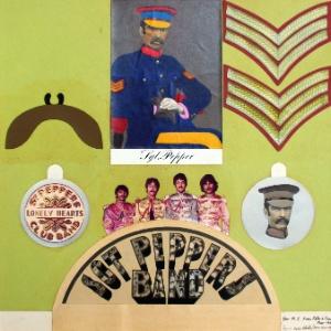 "Fotografia da collage feita pelo artista Peter Blake sobre o álbum ""Sgt. Pepper""s"" (9/11/12) - EFE/Sotheby"