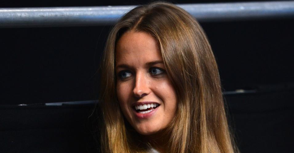 09.nov.2012 - Kim Sears, namorada de Andy Murray, acompanhar um jogo do amado no ATP Finals