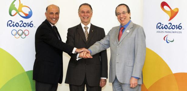Sidney Levy, Carlos Nuzman e Leonardo Gryner