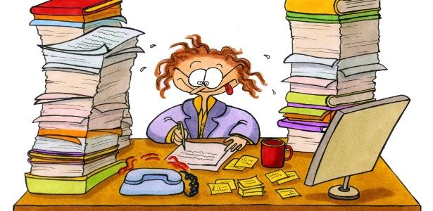 Organizar a rotina e delegar tarefas são algumas das estratégias para se desafogar - Thinkstock