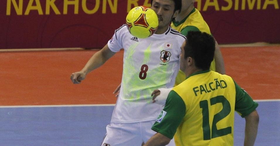 Falcão em quadra contra o Japão, em seu único jogo no Mundial