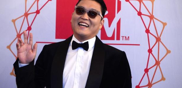 """O cantor Psy chega ao EMA 2012. Ele será o primeiro artista sul coreano a se apresentar no evento. O cantor ainda concorre ao prêmio de Melhor Clipe com """"Gangnam Style"""" (11/11/12) - Johannes Eisele/AFP Photo"""
