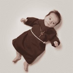 bebê, profissão, franciscano - Malo/Divulgação