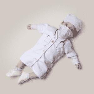 bebê, profissão, médico - Malo/Divulgação