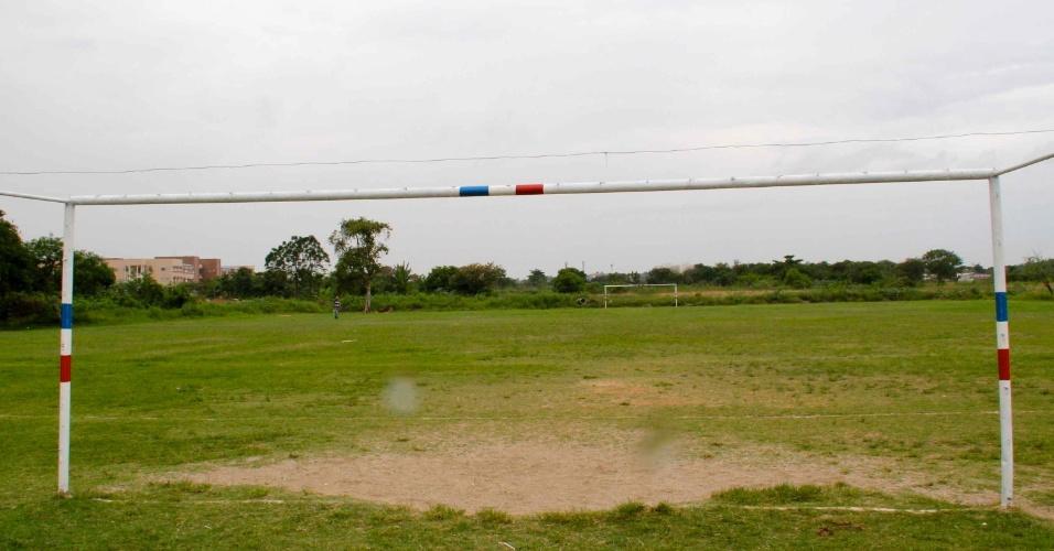 Campo do Centauro, em Nova Iguaçu, local do maior jogo da carreira de Sheik, segundo os amigos