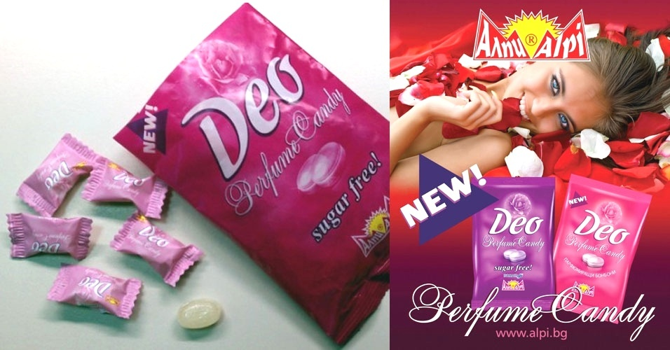 Deo Perfume Candy: a bala com gosto e cheiro de rosas que te deixa com cheiro de... rosas!