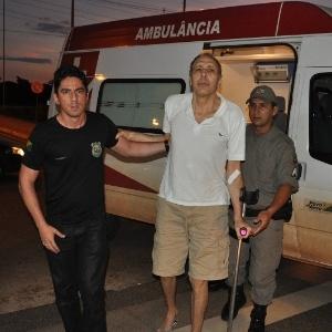 Ex-deputado Hildebrando Pascoal chega de ambulância a hospital de Rio Branco - Divulgação