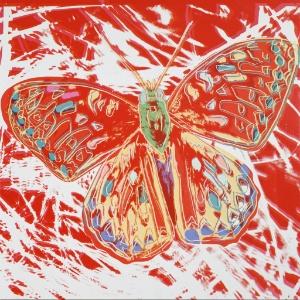"""Pintura de borboleta da série """"Endangered Species"""", feita por Andy Warhol, foi vendida por US$ 1,05 milhão - Divulgação/EFE"""