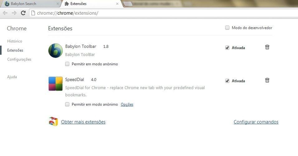 Uma nova janela abrirá. Nela, aparecerão as extensões que estão instaladas em seu navegador. Clique em Obter mais extensões, que aparece no final das extensões instaladas