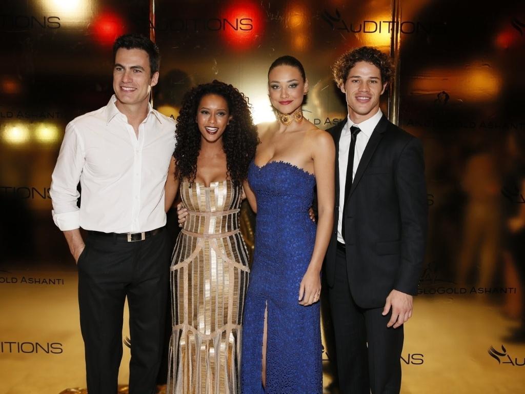 Carlos Casagrande, Taís Araujo, Débora Nascimento e José Loreto no 2º dia do evento Auditions, no Rio de Janeiro (13/11/12)