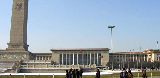 A Galeria do Povo, na Praça da Paz Celestial, em Pequim, abriga a Assembléia Nacional chinesa - Jacob Ehnmark/Wikimedia Commons