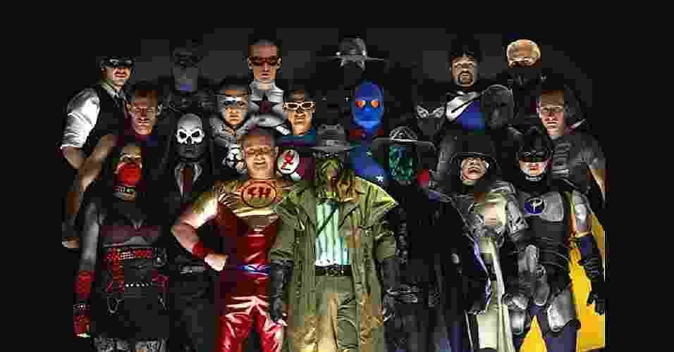 Grupo de super-heróis da vida real - Reprodução