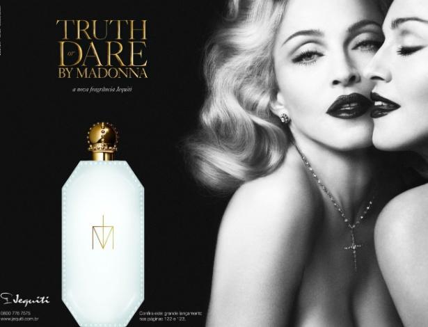 O perfume Truth or Dare, assinado por Madonna, começa a ser vendido no fim do mês pela Jequiti - Divulgação