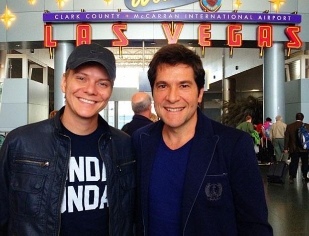 Michel Teló e Daniel em Las Vegas para o Grammy Latino (13/11/12) - Reprodução/Instagram