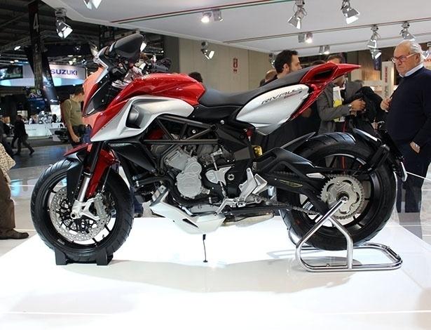 Três cilindros, 125 cv e design radical são marcos da MV Agusta Rivale 800, destaque do Eicma 2012 - Aldo Tizzani/Infomoto