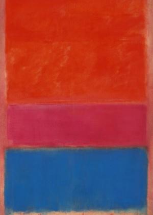 """Obra """"Royal Red And Blue"""", de Mark Rothko, foi vendida por US$ 71 milhões em um leilão em Nova York (14/11/12) - Sotheby""""s/EFE"""