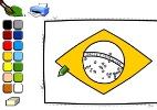 Pinte e recorte a bandeira do Brasil para enfeitar o feriado
