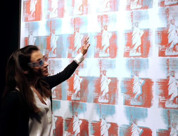 """A obra """"Estátua da Liberdade"""", de Andy Warhol - AFP"""