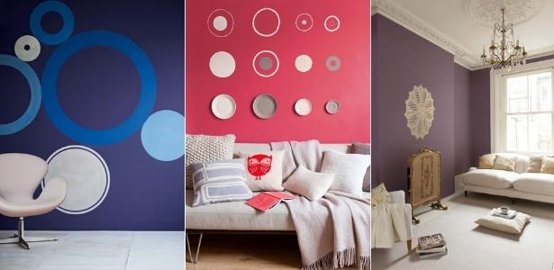 A fabricante de tintas Coral sugere combinar cores vibrantes com nuanças neutras para um estilo mais sutil - Montagem/ Divulgação