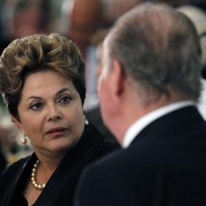 Dilma Rousseff participa de jantar com o rei Juan Carlos e membros da C&#250;pula Ibero-Americana<br>de Chefes de Estado e Governo, na Espanha