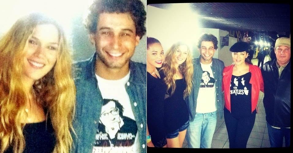 Rafael Almeida publica foto ao lado da cantora Joss Stone (16/11/2012)