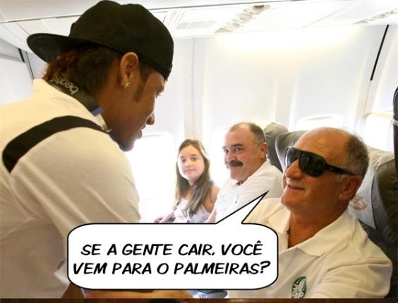 Acostumado a cair, Neymar presta solidariedade ao Palmeiras