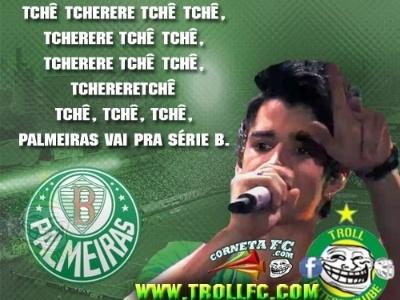 Cantor já prepara tema do rebaixamento do Palmeiras