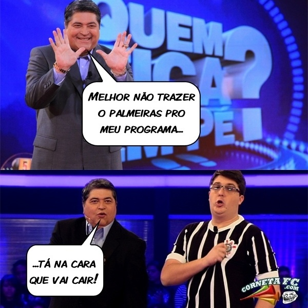 Datena faz piada com a situação do Palmeiras