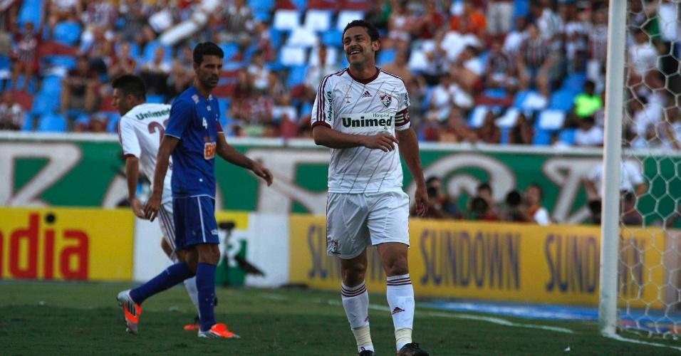 Fred, do Fluminense, lamenta chance perdida contra o Cruzeiro, durante partida pela 36ª rodada do Brasileirão