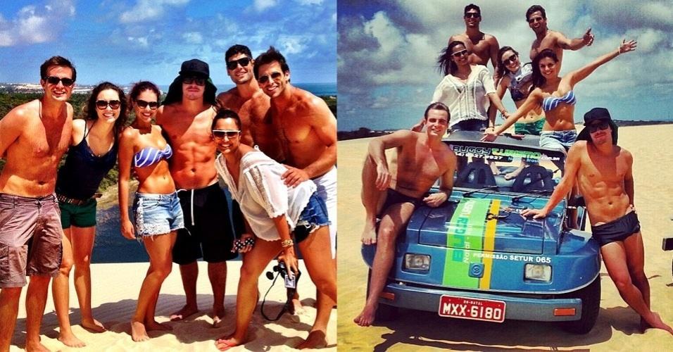 Jovens atores da Globo se reúnem em viagem por Natal, no Rio Grande do Norte. Na foto estão Max Fercondini, Amanda Ritcher, Paloma Bernardi, Thiago Martins, Dudu Azevedo, Henri Castelli e Thaíssa Carvalho (18/11)