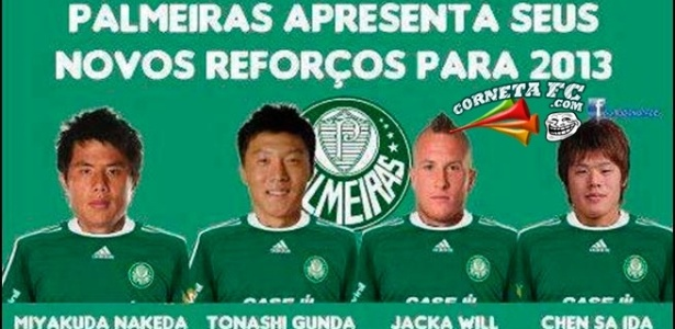 Palmeiras apresenta reforços para 2013
