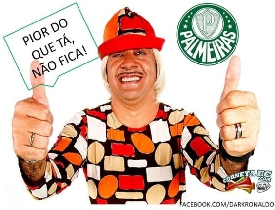 Palmeiras apresenta Tiririca, pois pior não fica