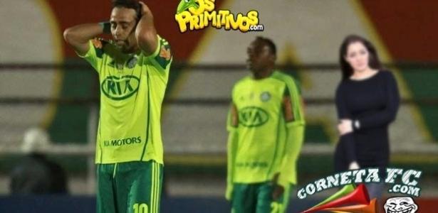 """""""Rainha dos desastres"""", Nana Gouvêa também prestigia a queda do Palmeiras"""