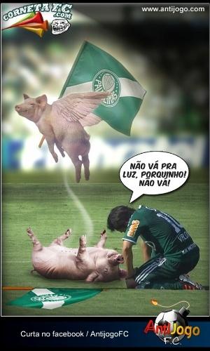 Valdivia lamenta o triste fim do Palmeiras