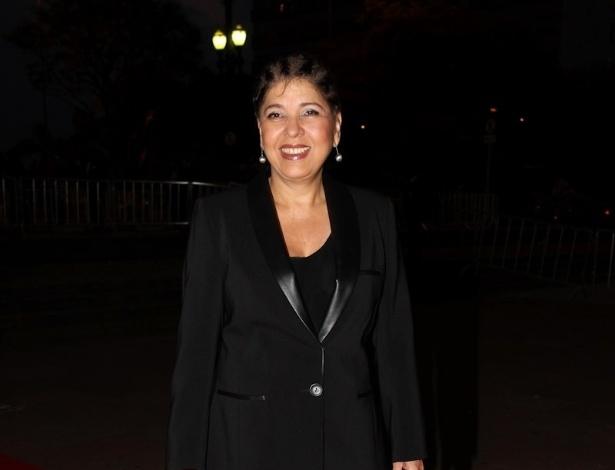 Roberta Miranda chega à Sala São Paulo, no centro da capital paulista, para a 10ª edição do Troféu Raça Negra (19/11/2012)