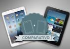 Veja lado a lado recursos dos tablets iPad mini e Galaxy Tab 2 - Arte/UOL
