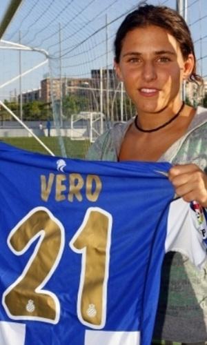 Verónica Boquete foi revelada pelo Prainsa Zaragoza, mas ficou famosa jogado pelo Espanyol