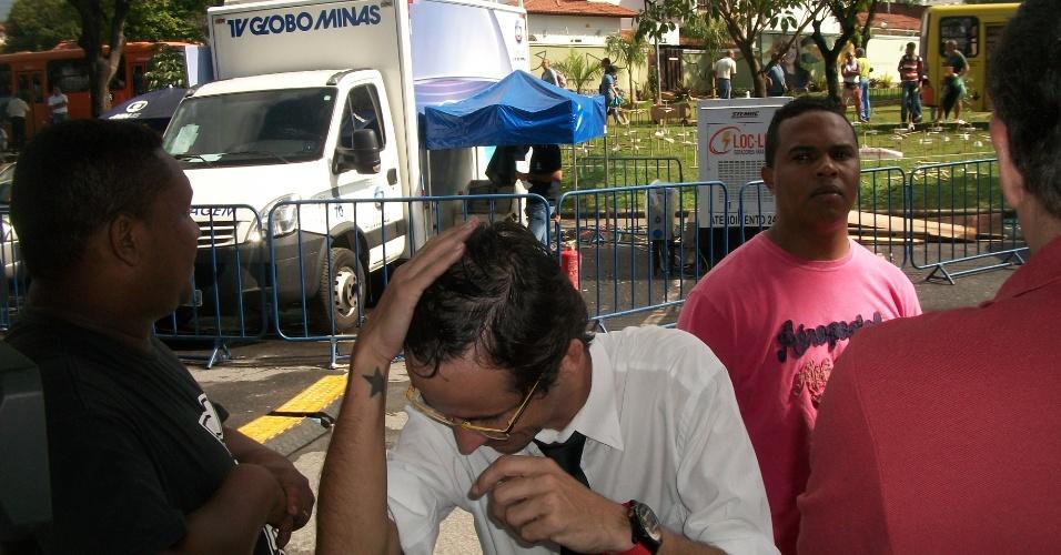 20.nov.2012 - Contratado há dois dias para atuar no programa da Rede Bandeirantes Pânico na TV,