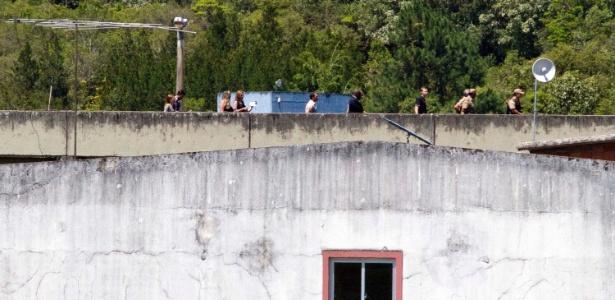 Equipe faz inspeção na penitenciária de São Pedro de Alcântara em 2012