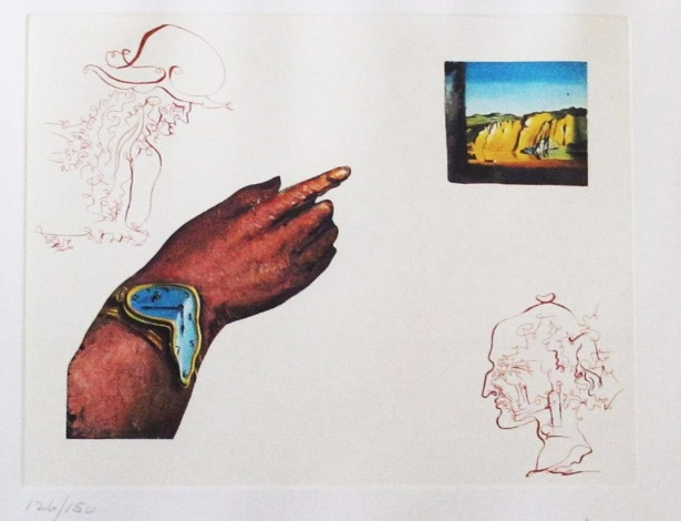 """Reprodução da obra """"Os Ciclos da Vida: Reflexos"""", do surrealista Salvador Dalí (20/11/2012) - Tacoma Goodwill Industries/EFE"""